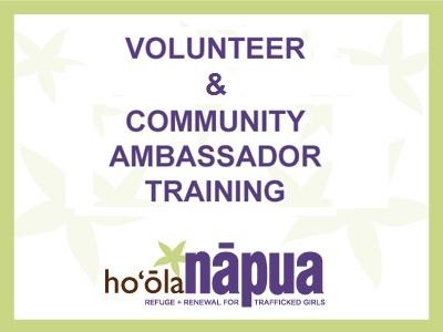 ca training volunteers